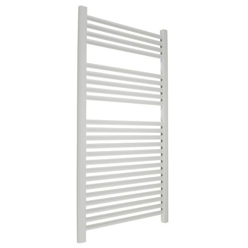 Abacus Elegance Linea Straight Towel Rail - 1120mm x 600mm - White